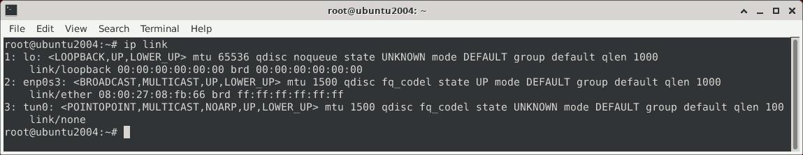 ip link MTU Werte unter Linux anzeigen.