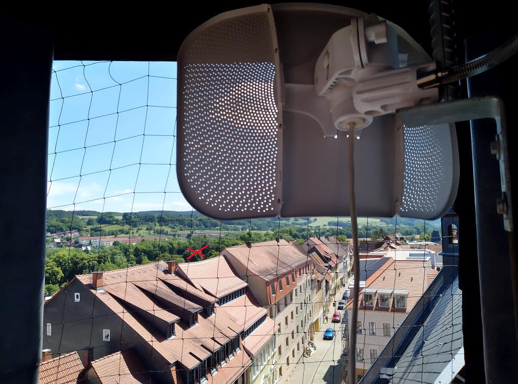 LiteBeam 5AC Gen2 - Blick Richtfunk-Strecke zum Bad
