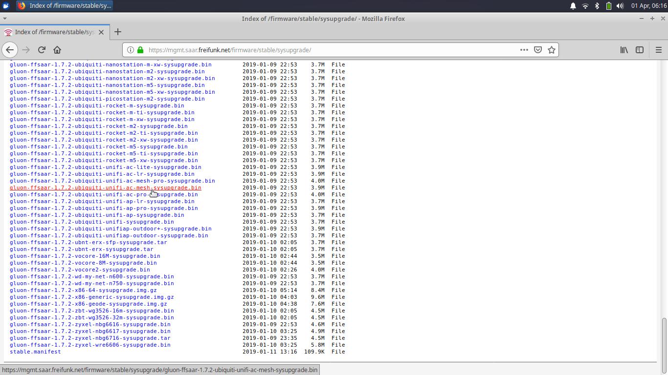 Freifunk Saar - sysupgrade Firmware download Server